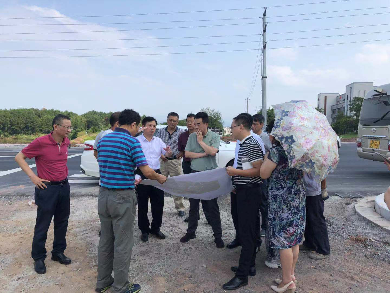 黄山市市长孔晓宏至我司监理项目调研